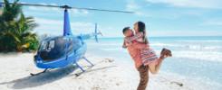 Saona island with helicopter