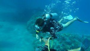 Potápačský šnorchl s hlbokým potápaním
